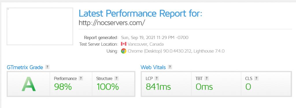 performance-report-of-gtmetrix